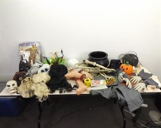 Large Lot of Halloween Costumes, Decorations, etc.