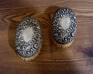 antique Sterling Silver brushes
