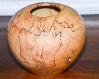 4. Artisan Crafted Turned Spalted Maple Vase