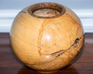 5. Artisan Crafted Maple Wood Vase