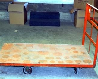 "Large Heavy Duty Steel Rolling Warehouse Cart, 80"" x 44"""