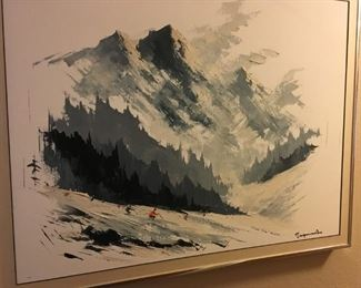 Wish I could figure out the artist...very cool mid century original