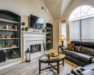 model home accessories and flat screen tvs