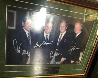 Arnold Palmer, Lee Trevino, Jack Nicklaus, Gary Player. With COA