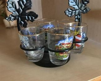 Vintage shot glass holder