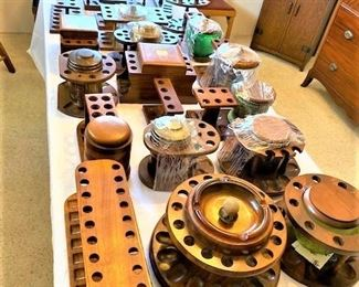 Dozens of Pipe Stands & Pipes