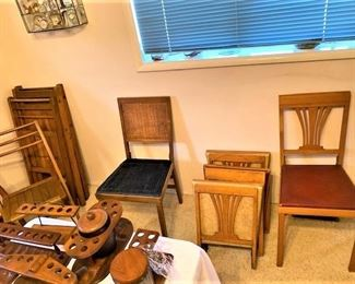 Collection of Vintage Folding Chair Sets
