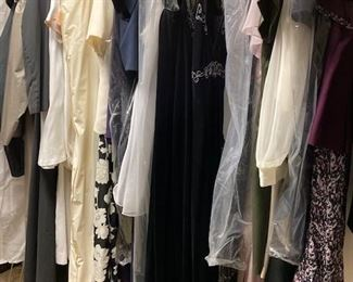 Many Women's Gowns, Suits & Jackets. Sized 12 & 14
