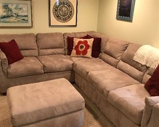 Like new sectional with sleeper sofa