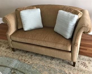 A pair of these crushed velvet loveseats