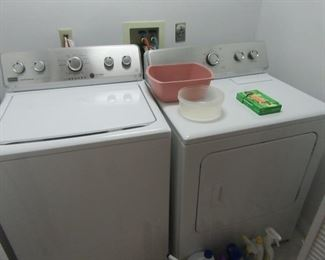 Washer is not draining -usually a clogged hose or pump but not sure. Dryer is gas and works great.