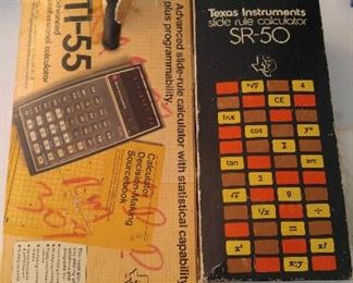 Two advanced vintage calculators