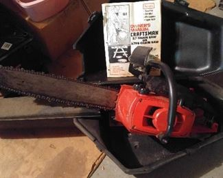 Large chain saw - one of two
