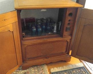 Old Dumont TV cabinet made into a bar