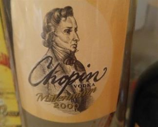 Rare and collectible Chopin 2000 Millennium bottle.