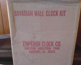 EMPEROR BAVARIAN WALL CLOCK KIT - NIB