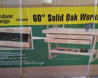 WINDSOR DESIGN WORK BENCH - NIB; This is in the garage & will be sold W/be sold Saturday