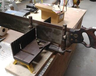 Large vintage miter for the collector/user