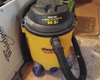 Shop vac - one of two; This is in the garage & will be sold W/be sold Saturday