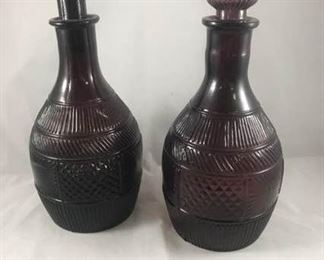 Deep Violet Wine Decanters