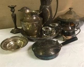 Large Silverplate Group
