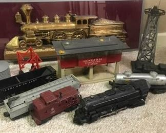 Lionel Trains and Wall Plaque
