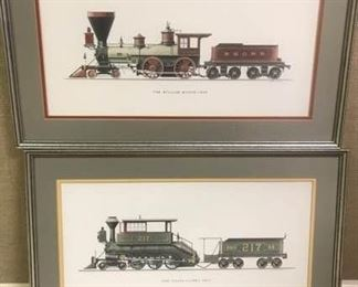 Mason and Davis Train Prints