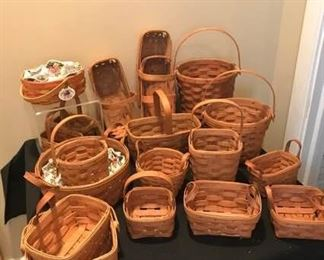 Nineteen Longaberger Baskets