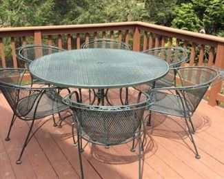 Outdoor Patio Table Set with Six Chairs