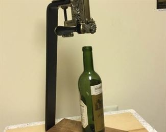 Standing Wine Bottle Corkscrew