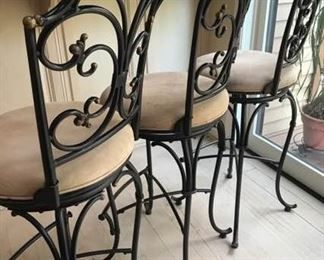 Three Swivel Bar Chairs