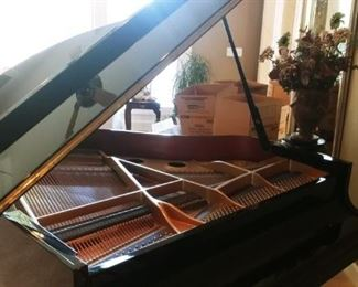 Stunning Polished Ebony Baby Grand K. Kawai GE- 1 Serial # 2193002 made in Japan 1994. PianoDisc installed for option of self playing piano with disc. Fits many living rooms as well! Professional piano mover available.