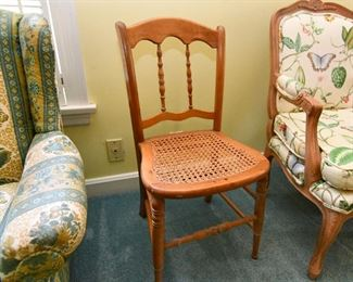 Antique Chair with Hand Caned Seat