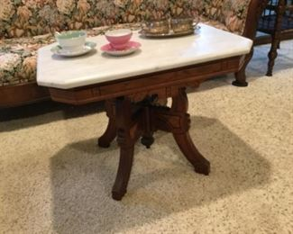 Eastlake table with marble top