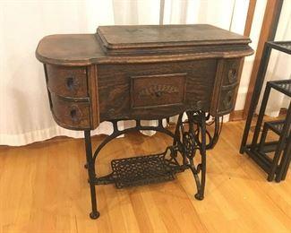 Antique sewing machine, Marshall Fields