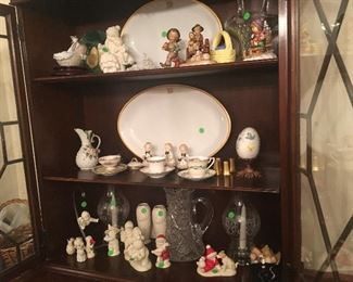 Collectibles, Lladros, Snow babies. Porcelain figurines, candles, china