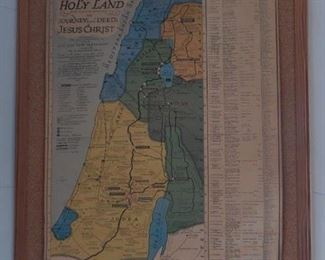 Vintage map of the Holy Land.