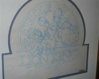 Disney: Original Line drawings of Disney's Lion King characters