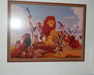 Disney's Lion King publicity photo signed by Elton John