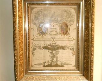 Wedding certificate late 1800s and we have the lovely bride and groom