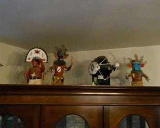 Amazing various collections of Hopi Kachinas and Navajo cloth dolls