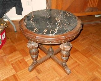 marble top smoking table ornate