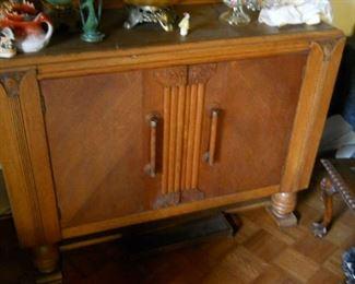 Art Deco oak bar or cabinet