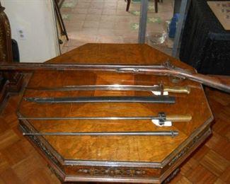 swords and bayonets