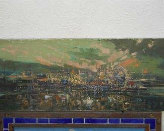 original oil 3ft of  of Malibu ARTIST OF THE STARS
