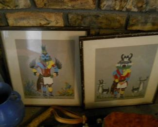 antique print listed artist