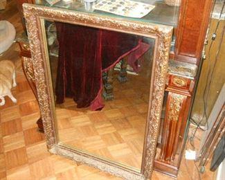 gold gilded mirror frame 3 ft