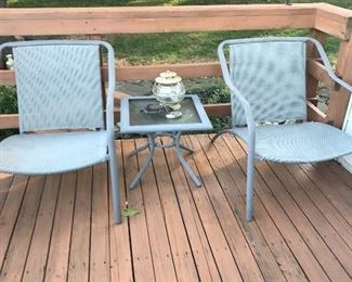Several sets of outdoor furniture