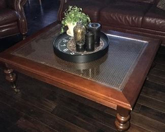 Beautiful glass top square coffee table * home decor
