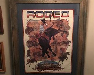Framed Rodeo artwork